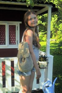 Crochet backbag